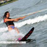 Imágenes de esquí acuático