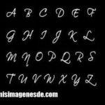 Imágenes de letras cursivas