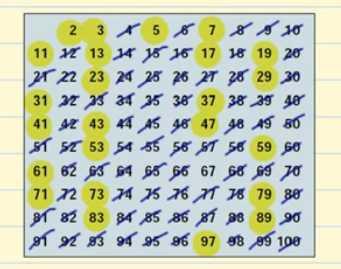 numeros primos del 1 al 100