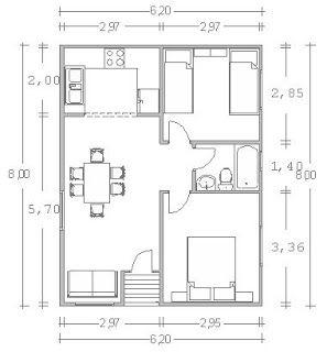 Im genes de planos de casas im genes for Distribucion apartamento 50 m2