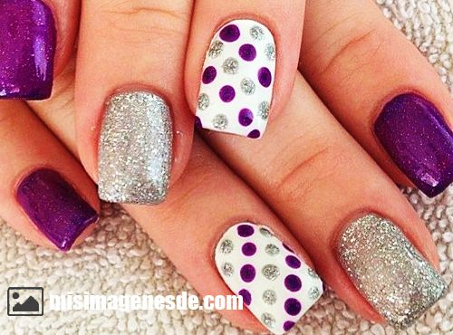 uñas decoradas en gel