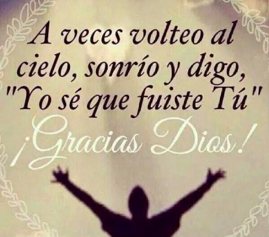agradecimiento a dios