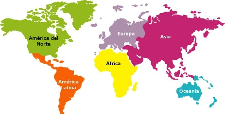continentes del mundo