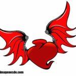 Imágenes de corazones con alas