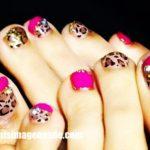 Imágenes de decoración de uñas de los pies