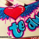 Imágenes de graffitis de te amo