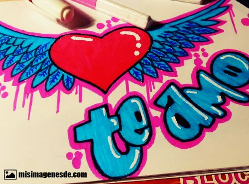 Imágenes de graffitis de te amo | Imágenes