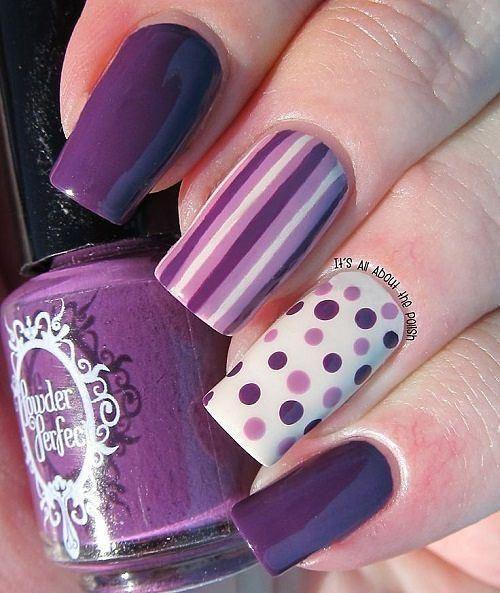 imagenes de uñas pintadas
