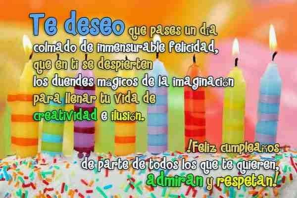 mensajes de feliz cumpleaños