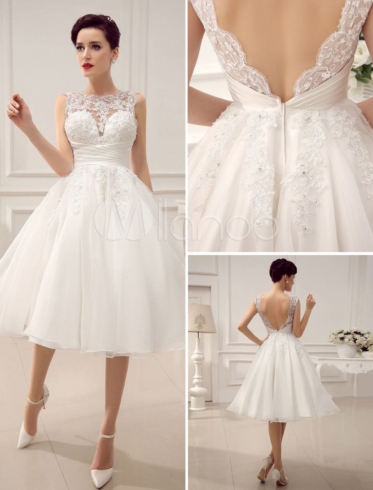 vestidos de boda semi cortos – vestidos largos