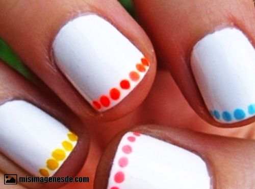 diseños de uñas faciles