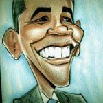 Imágenes de caricatura de Obama