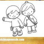 Dibujos de niños para colorear