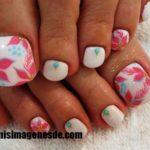 Imágenes de decoración de uñas para pies
