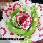 Imágenes de flores de tela