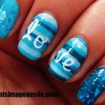 Imágenes de uñas azules