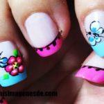 Imágenes de uñas decoradas con flores